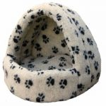 p_and_l_fleece_lined_hooded_cat_bed_beige_paw_print_fleece-350x358
